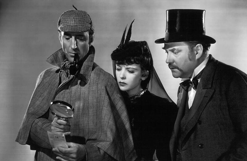 """RathboneIdaMAIN - Os clássicos filmes de """"Sherlock Holmes"""" com BASIL RATHBONE"""