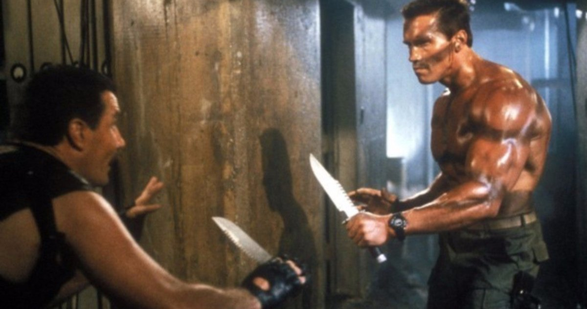 "Commando Movie Prequel Story Arnold Schwarzenegger - ""Comando Para Matar"", de Mark L. Lester, no TELECINE"