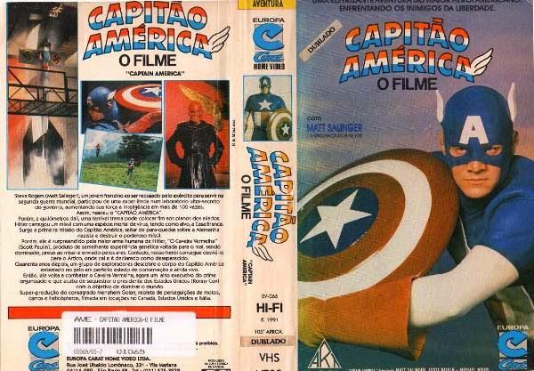 """capito america matt salinger vhs dvd de brinde 16820 MLB20128528345 072014 F - Rebobinando o VHS - """"Capitão América"""" (1990)"""