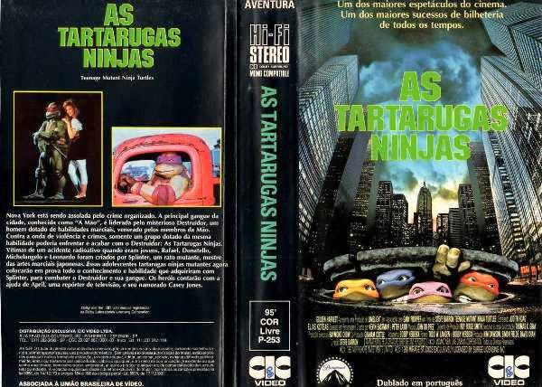 """vhs as tartarugas ninjas original 1988 5244 MLB4950559102 092013 F - Rebobinando o VHS - """"As Tartarugas Ninjas"""" (1990)"""