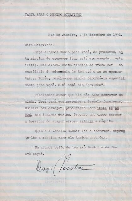 17274037 1374574419299786 876344944 o1 - Presente inesquecível de meus avós maternos: Máquina de Escrever