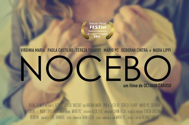 """Nocebobannerfestin - Cartazes do curta """"Nocebo"""" atualizados com a passagem pelo FESTin, de Portugal."""