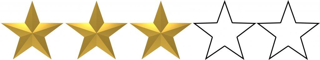 """3 stars 1024x194 - Crítica de """"Aquaman"""", de James Wan"""