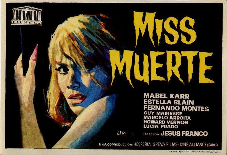 """miss muerte poster - Os 2 """"melhores"""" filmes do diretor espanhol Jess Franco"""