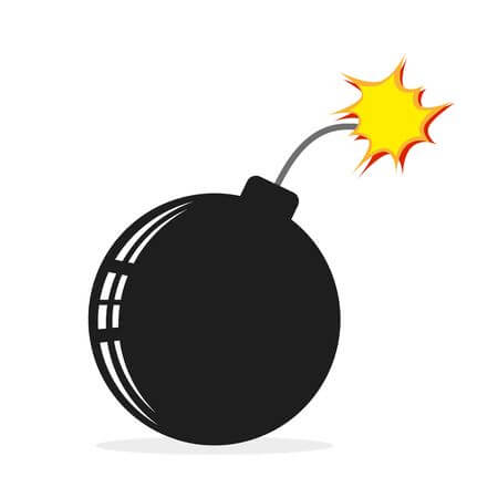 "93416352 bom icon in flat design vector illustration burning bomb isolated on white background - Crítica de ""Projeto Gemini"", de Ang Lee"
