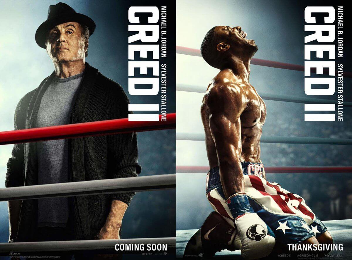 """DoCW66 WsAUtdoe - Os novos cartazes de """"CREED 2"""", o retorno de ROCKY BALBOA"""