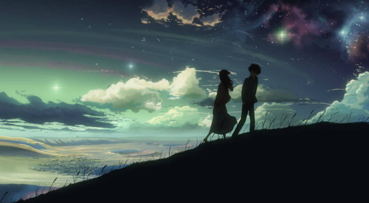 """MV5BNDliNDRjMzQtY2UzNy00YWUyLWJiYTYtYTgwZjI0YzkzMTE2XkEyXkFqcGdeQXVyNDQxNjcxNQ@@. V1  - A DELICADA arte do diretor Makoto Shinkai, de """"Your Name"""", na NETFLIX"""