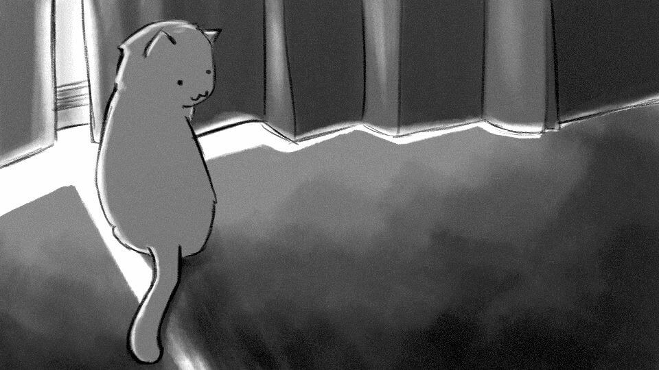 """She and her cat 1 gap - A DELICADA arte do diretor Makoto Shinkai, de """"Your Name"""", na NETFLIX"""