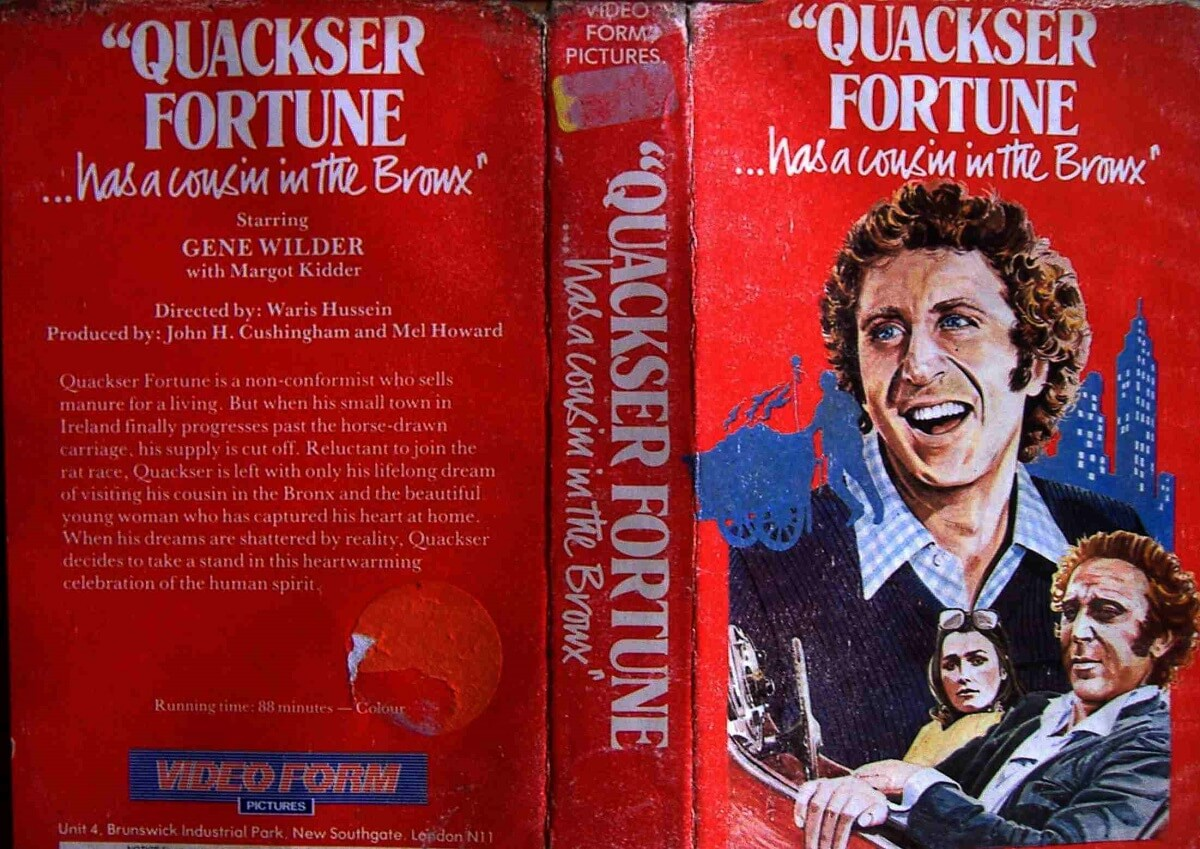 "Quackser video cover - Rebobinando o VHS - ""Quackser Fortune Has a Cousin in the Bronx"""