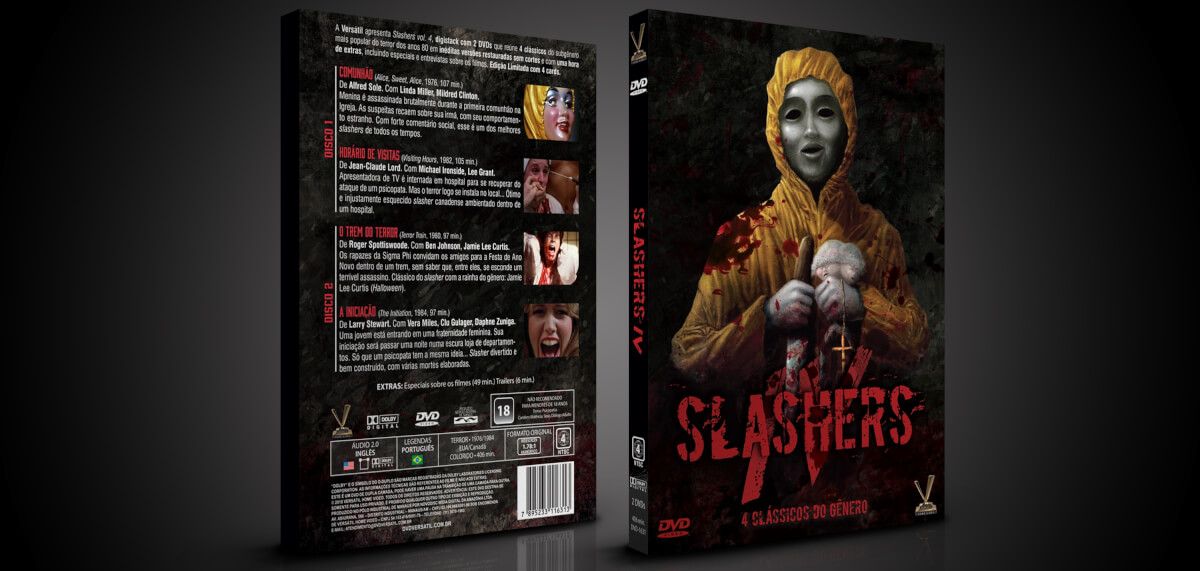 """slashers 4 arte 3d - Slashers - """"Comunhão"""", """"Horário de Visitas"""", """"O Trem do Terror"""" e """"A Iniciação"""""""