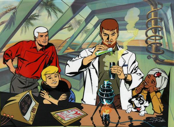 """4212874739 os personagens centrais de jonny quest - Crítica nostálgica de """"Jonny Quest"""", clássico da Hanna-Barbera"""