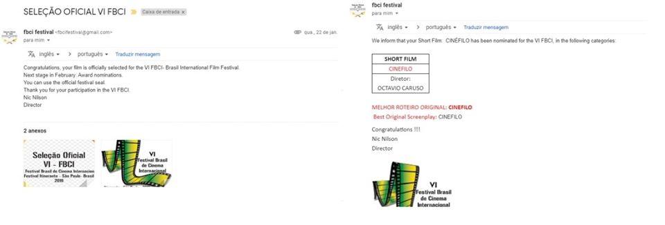 """89252611 3006721629379642 1400340624770596864 o - DECEPÇÃO com o """"VI Festival Brasil de Cinema Internacional"""""""
