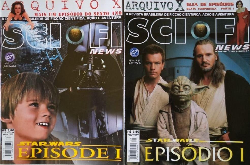 """2 revistas sci fi news n 17 e 20 capas star wars D NQ NP 22028 MLB20223246220 012015 F 1024x710 1 - """"Star Wars: Episódio I – A Ameaça Fantasma"""", de George Lucas"""