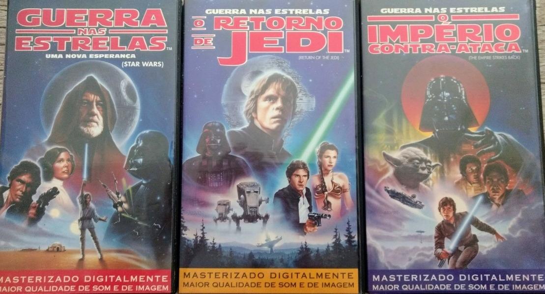 """trilogia star wars guerra nas estrelas em vhs D NQ NP 879193 MLB29284322853 012019 F - """"Star Wars: Episódio I – A Ameaça Fantasma"""", de George Lucas"""
